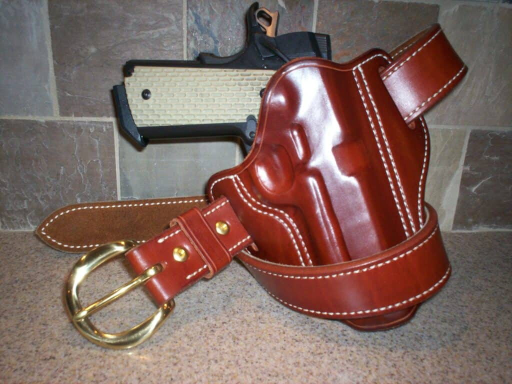 J.W. ORourke Leather Products Leather Holster and Gun Belt