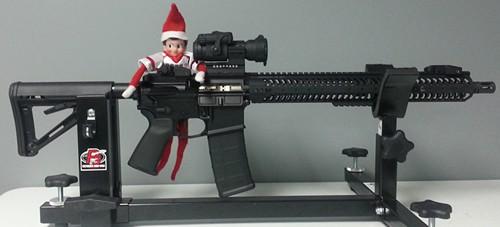 Elf with AR-15 Rifle