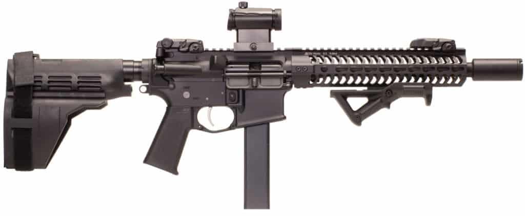 Battle Rifle Company BR4 Attache 9mm AR Pistol