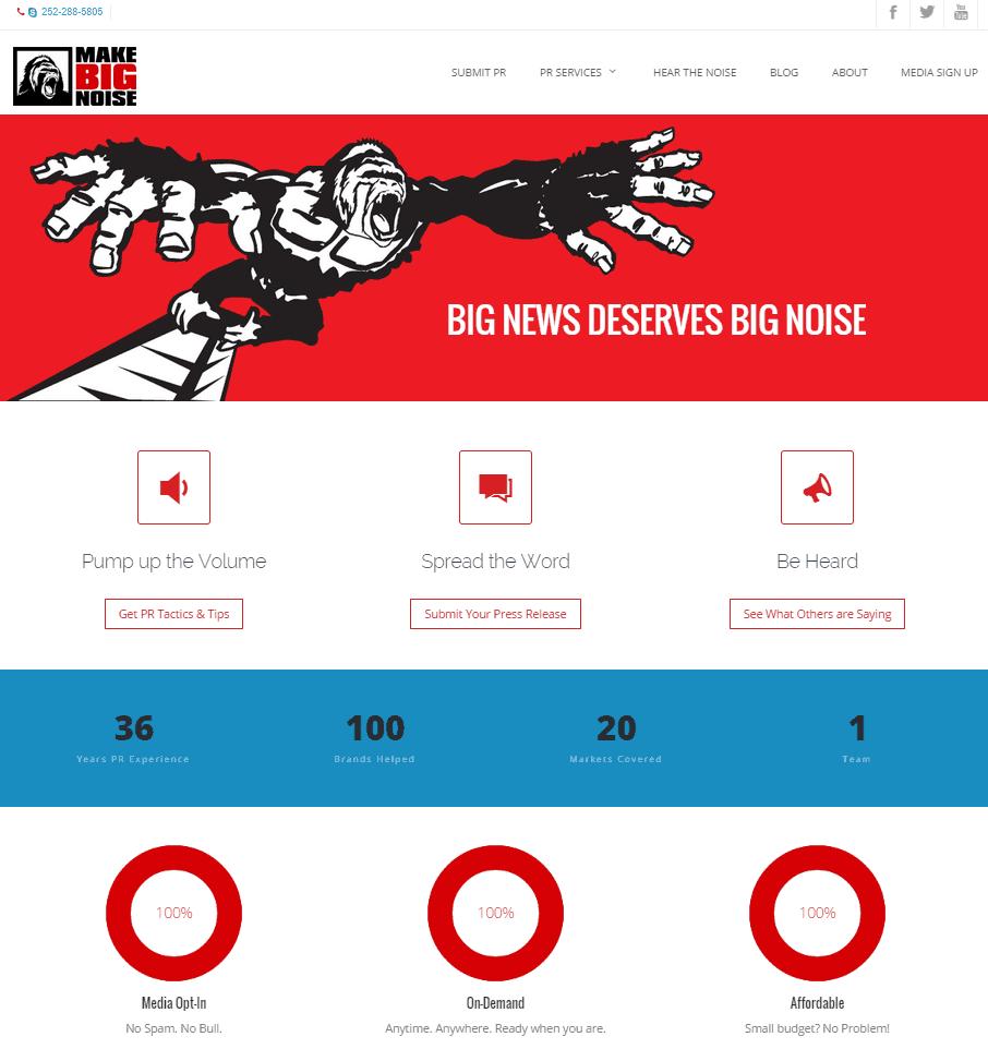 Make Big Noise Home Page