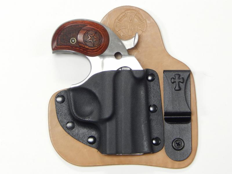 Bond Arms Derringer shown in a CrossBreed Holsters Appendix Carry