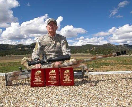 Walter Wilkinson at Fifty Caliber Shooters Association Spring Regional Match