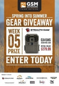 GSM Spring Into Summer Gear Giveaway Week 5 - Stealth Cam GX45NG