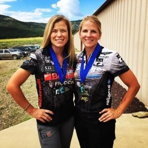 Heather Miller and Becky Yackley at the Rocky Mountain 3-Gun World Shoot