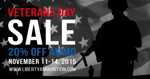 Liberty Ammunition Veterans Day Sale