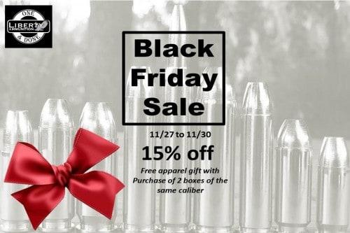 Liberty Ammunition Black Friday and Cyber Monday Sale