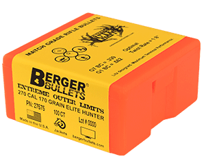 Berger Bullets 270 Cal 170 gr EOL Elite Hunter Bullets