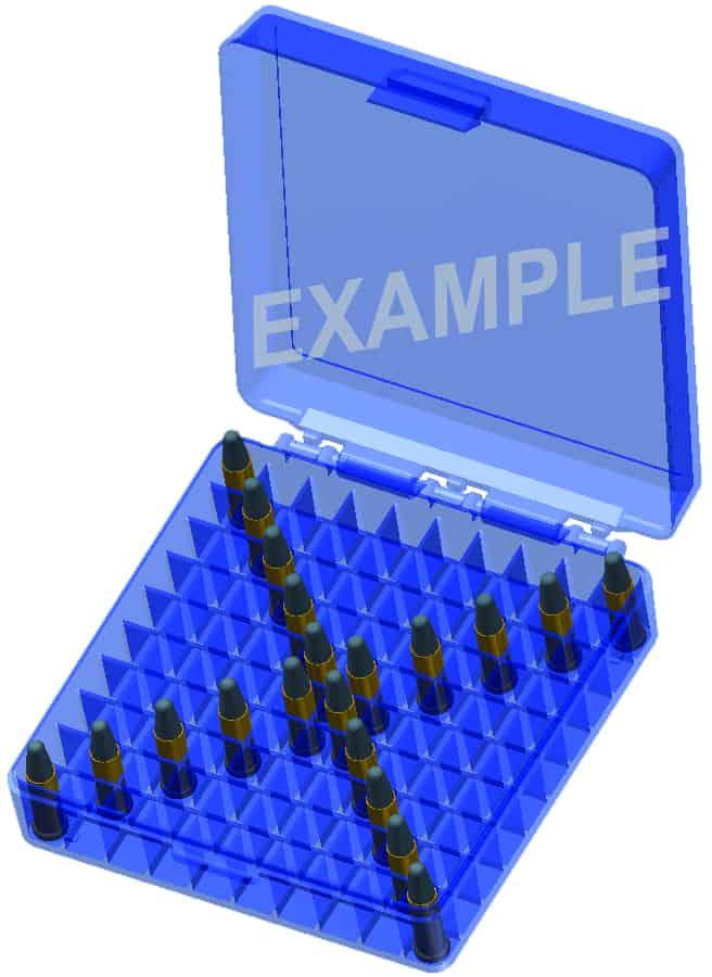 MTM CASE-GARD 100 Rd 22 Caliber Ammo Box
