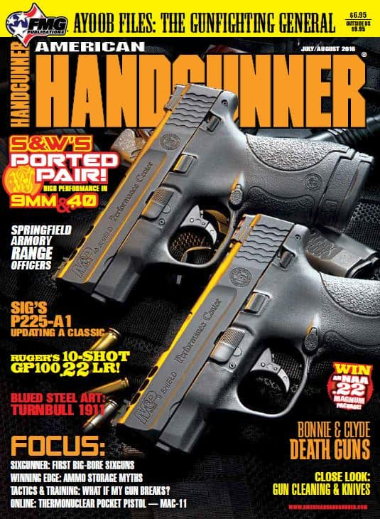 SW Performance Center Ported MP Shield in American Handgunner