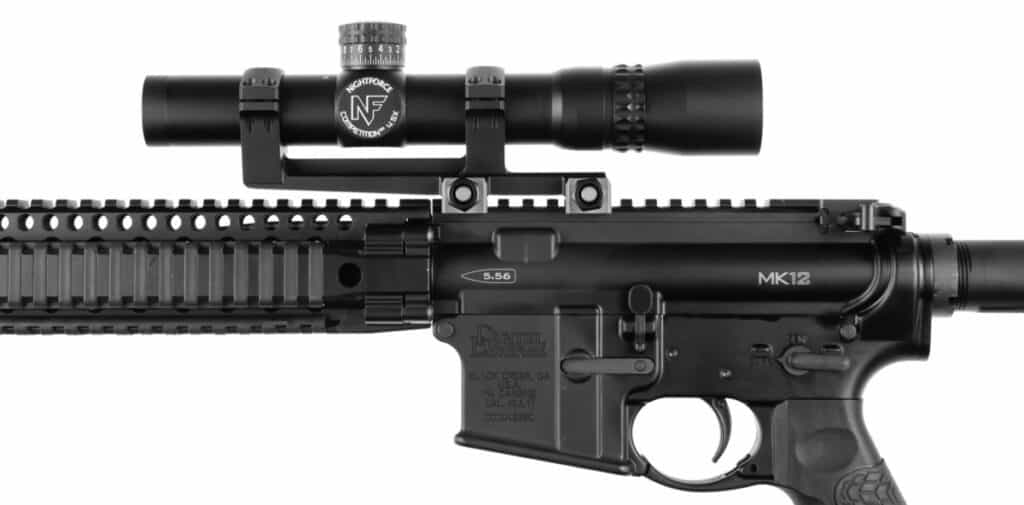Nightforce Competition SR Fixed 4-5x24 Riflescope_Mounted