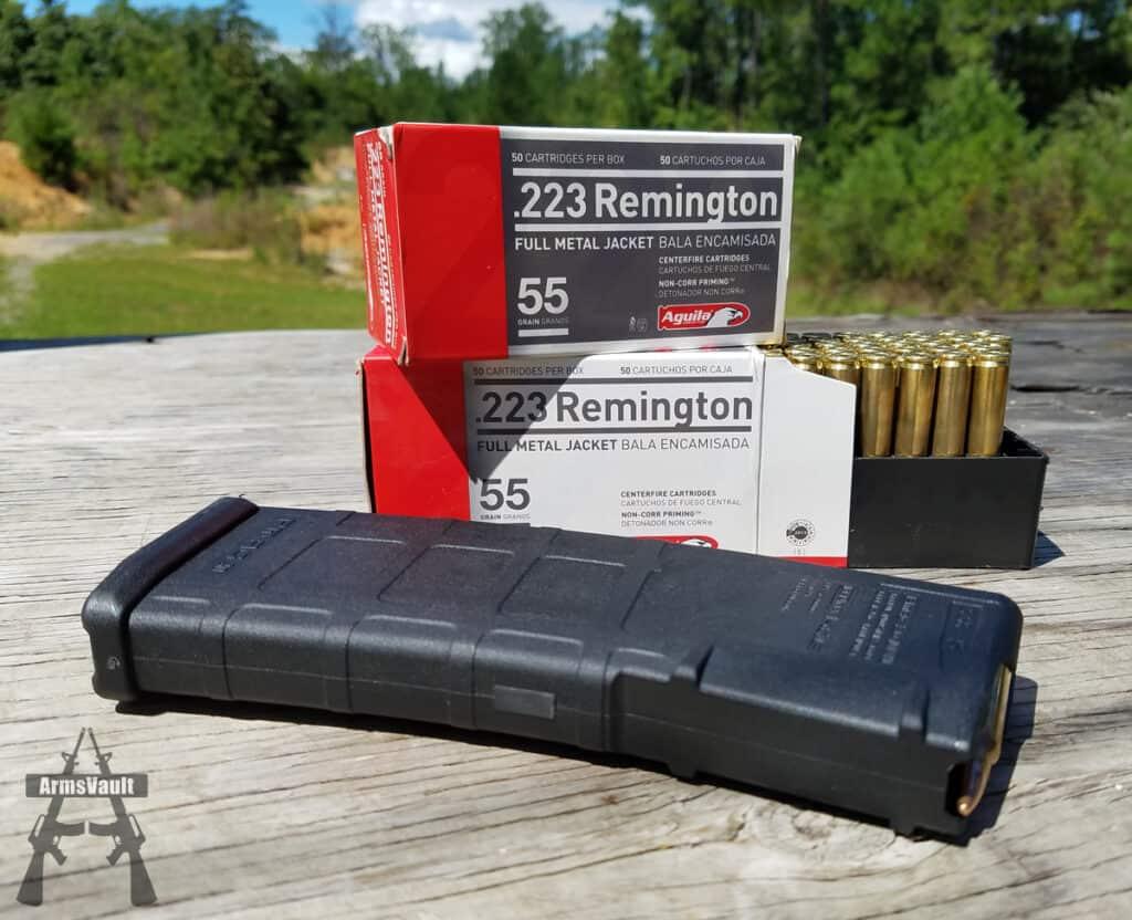 Aguila 223 Remington 55gr FMJ Ammo Glamour Shot