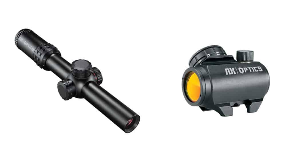 Bushnell AK Optics Red Dot and Riflescope for AK-47 Platform