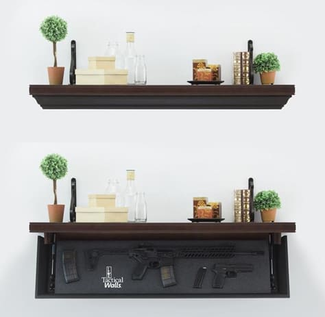 TacticalWalls Rifle Length Shelves with RFID Locks