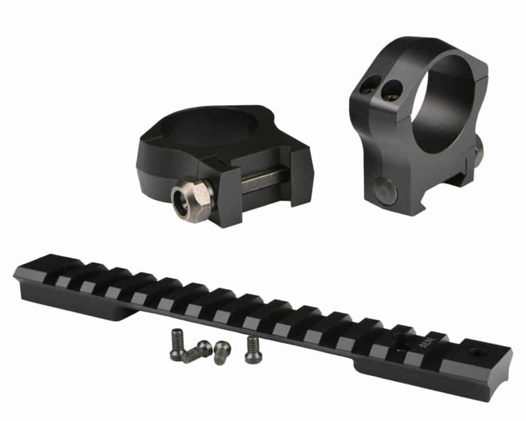 Warne Mountain Tech Lightweight Precision Mounting System - Rail and Rings