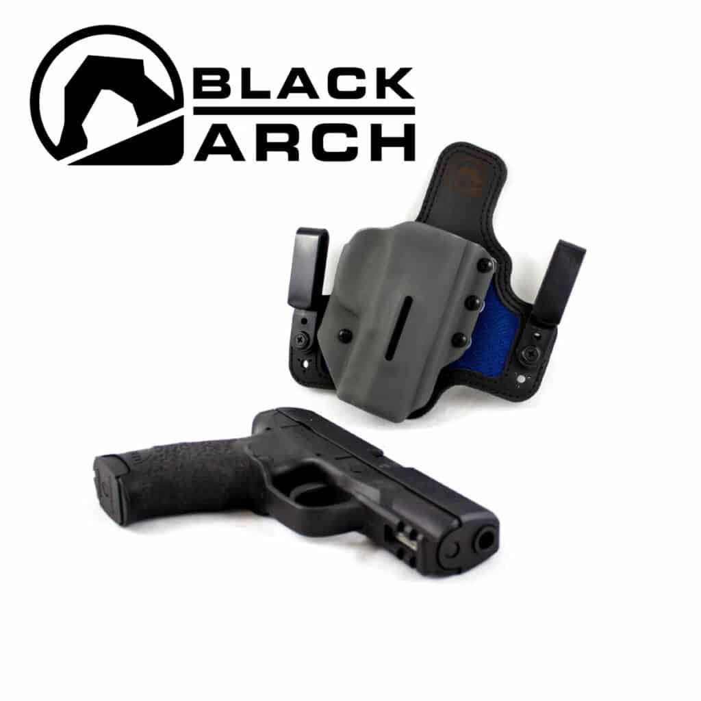 Black Arch Hybrid Holster with Dri-Matrix Backer