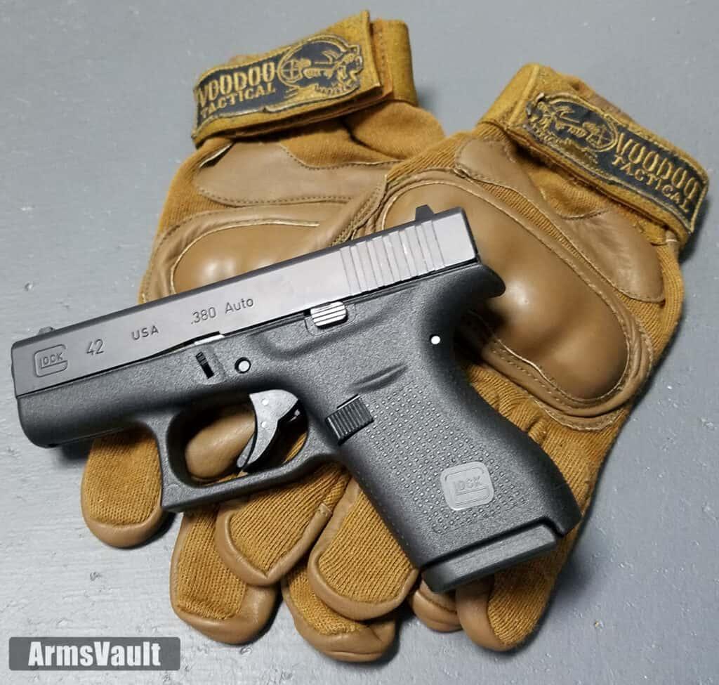 Glock 42 with Voodoo Tactical Phantom Gloves