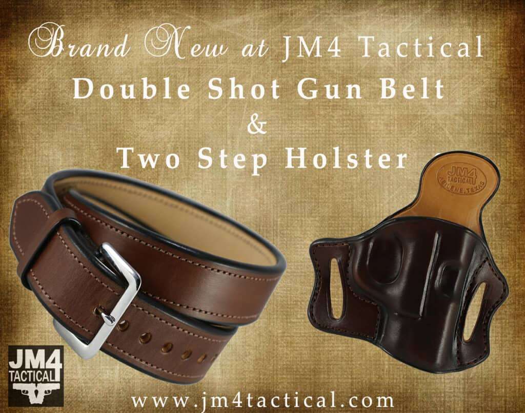 JM4 Tactical Double Shot Gun Belt and Two Step OWB Holster