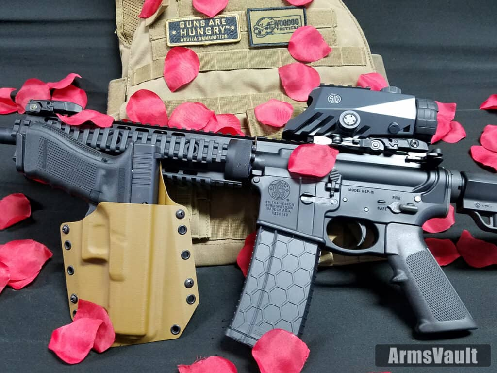 Glock 17 and SW AR-15