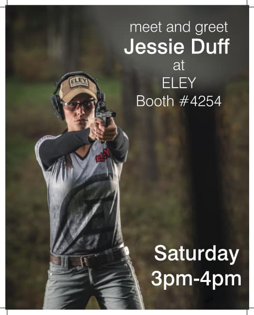 Jessie Duff at ELEY Booth 2017 NRA Show