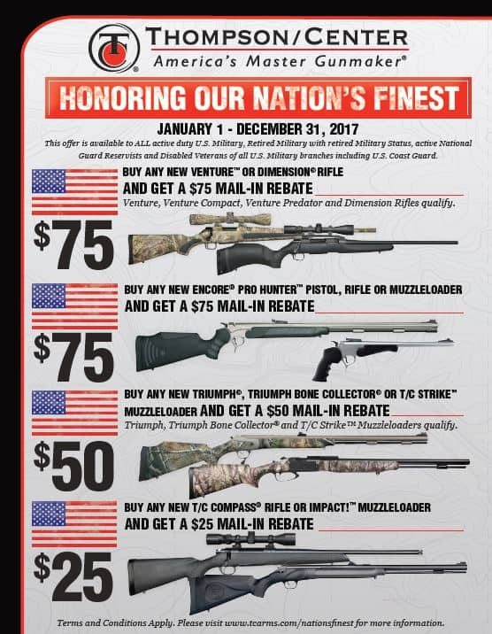 Thompson-Center Arms Expands Nations Finest Rebate Program