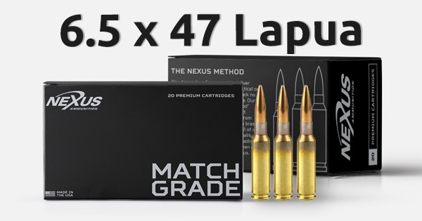 Nexus 6 5x47 Lapua 140gr Match Ammunition