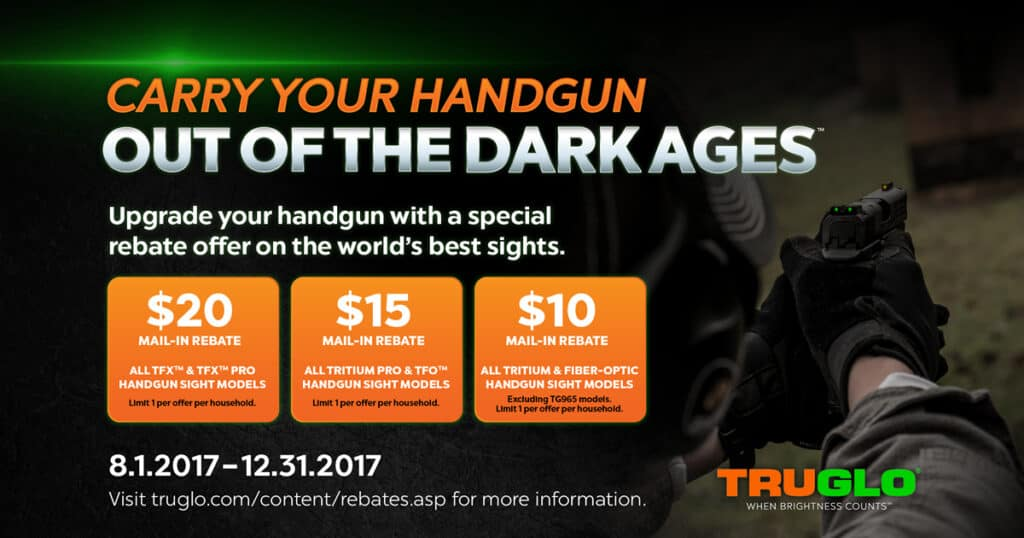 TRUGLO Handgun Sight Rebate