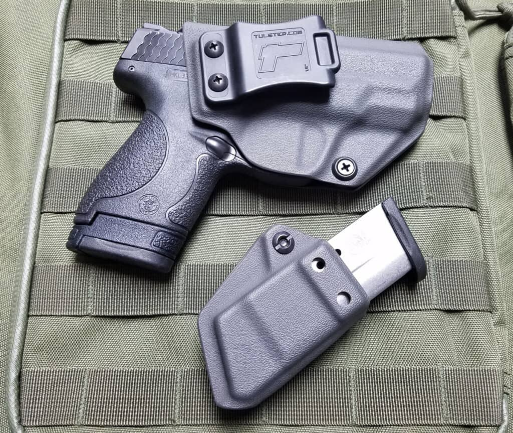 S&W Shield In Tulster Profile Holster with Echo Mag Carrier