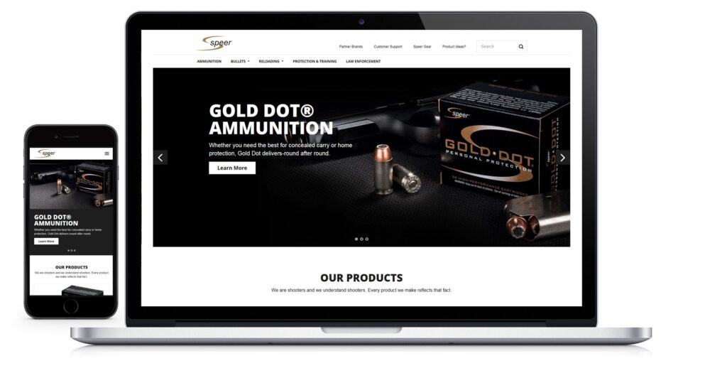 Speer Ammunition Site Features Ammo Info and Reloading Data