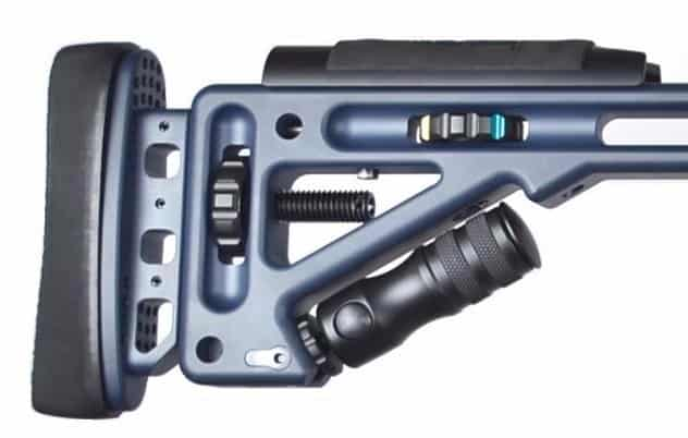 MasterPiece Arms MPA 300 Norma Bolt Action Rifle - Core Blue Buttstock