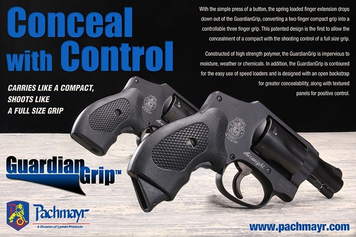 Pachmayr GuardianGrip for Concealed Carry Revolvers