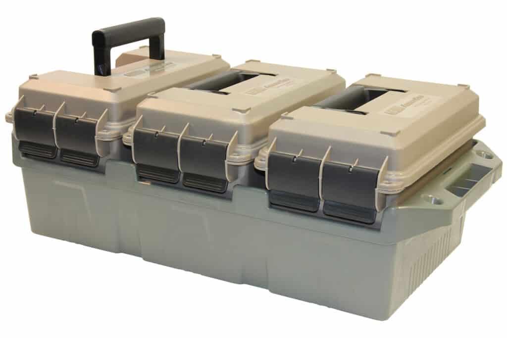 MTM CASE-GARD 3-Can 50 Cal Ammo Crate