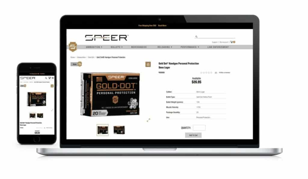 Speer Gold Dot Ammunition & Reloading Components