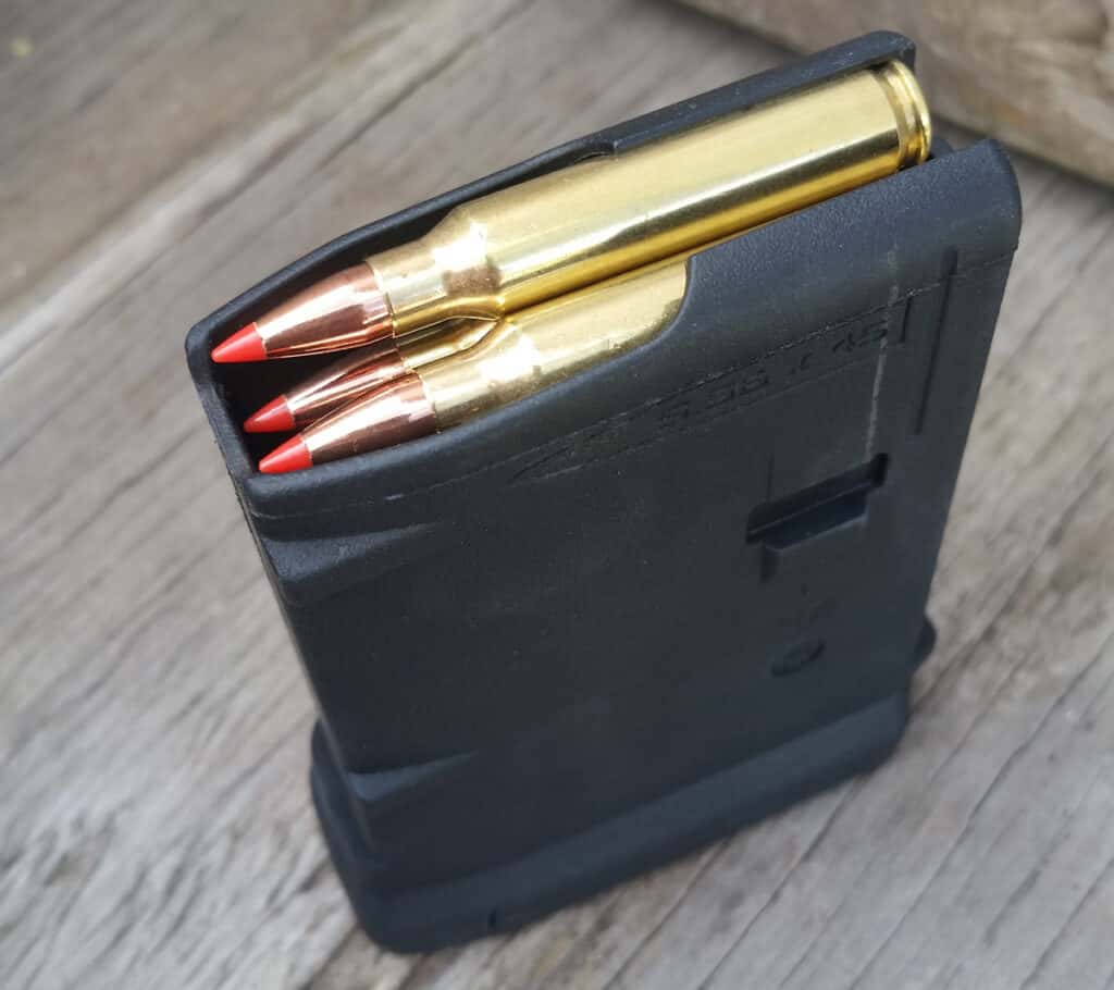 223 Ammunition Loaded in a Magpul Magazine