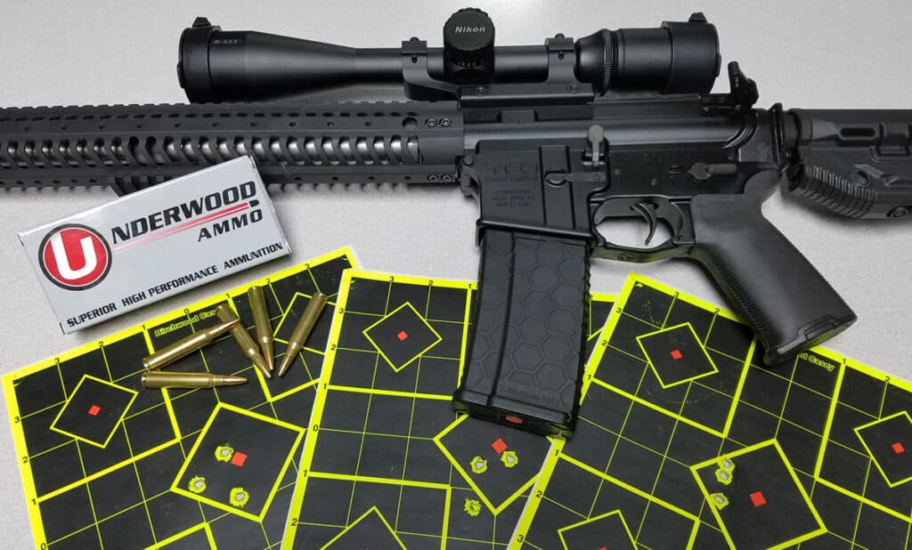Accuracy Test - AR-15, Ammo, Paper Targets