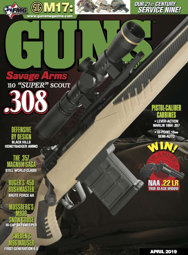 Savage 110 Scout in GUNS Magazine
