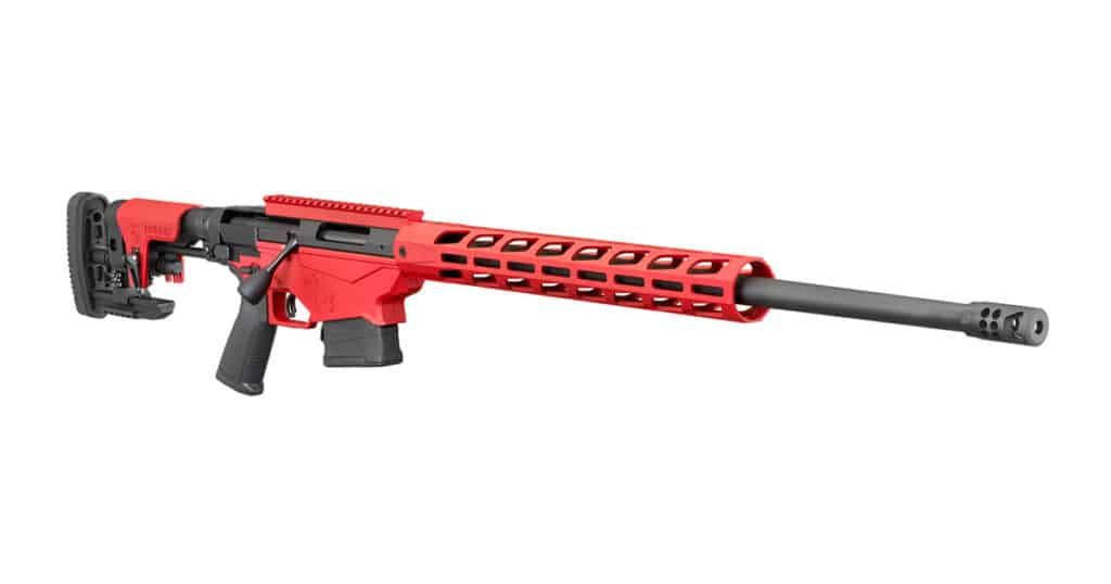 Ruger Precision Rifle with Red Cerakote Finish