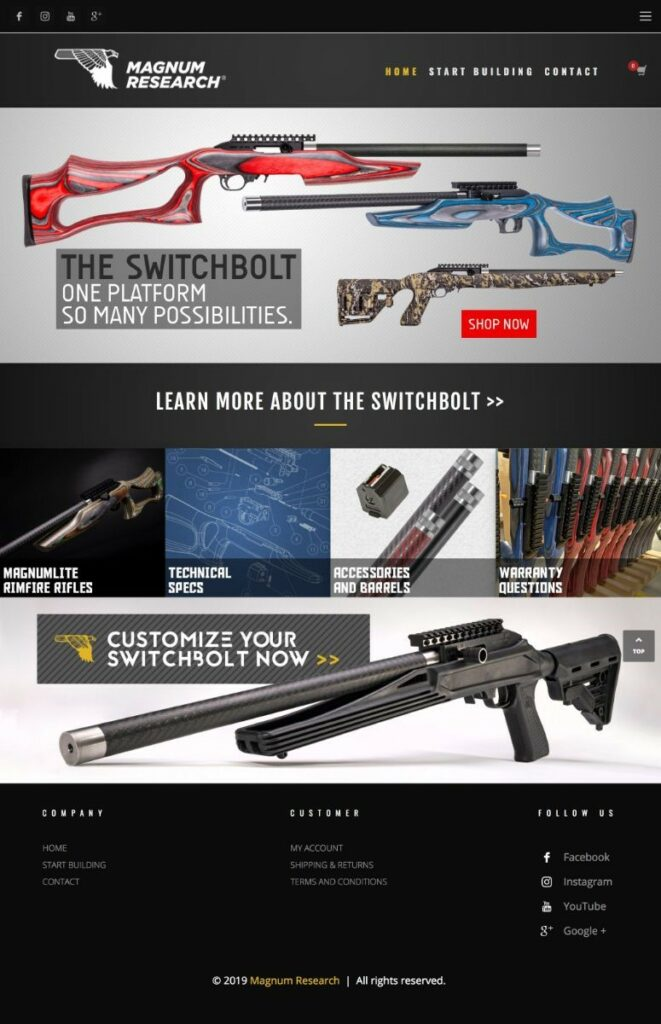 Magnum Research SwitchBolt Website