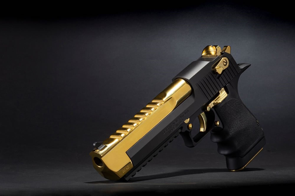 Black and Titanium Gold Desert Eagle