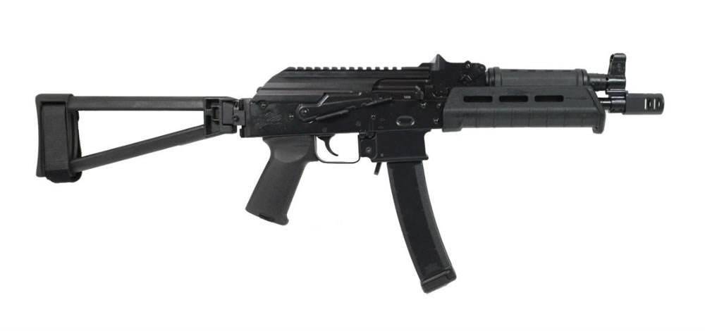 PSA AK-V 9mm MOE Triangle Side Folding Pistol - Black