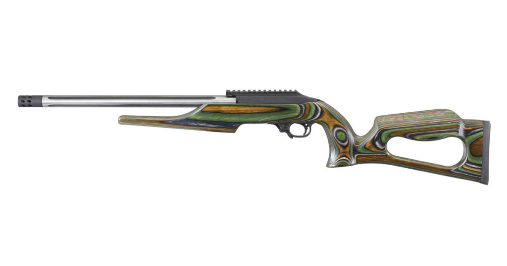 Ruger 1022 Rifle with Skeletonized Green Mountain Laminate Stock