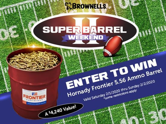 Brownells 556 Hornady Frontier 55gr M193 Ammo Giveaway
