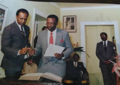 Ambassador Michael Powell being sworn in as Deputy Prime Minister