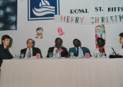 Friends and Dignitaries Celebrating the birthday of Mr. Archie Zuliani (Owner of Royal St. Kitts Hotel)