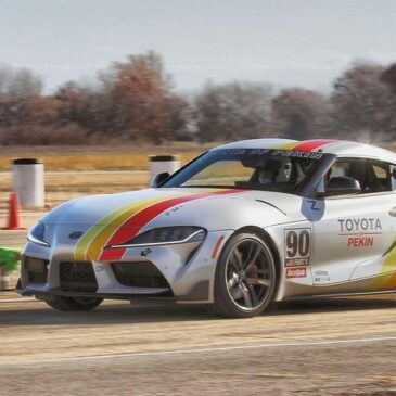 GR Supra at the November AutoX with CCSCC