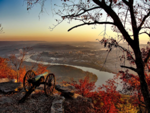 Chattanooga City Overlook with Cannon