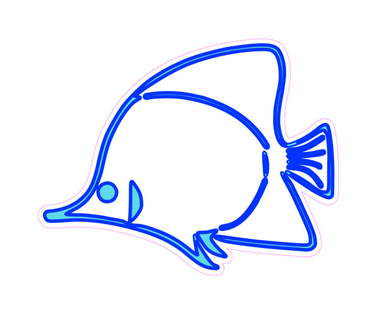 Angel Fish Designed precut adhesive patch to secure all diabetic devices