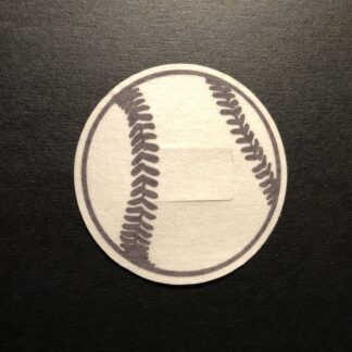 Baseball Designed precut adhesive patch to secure all diabetic devices