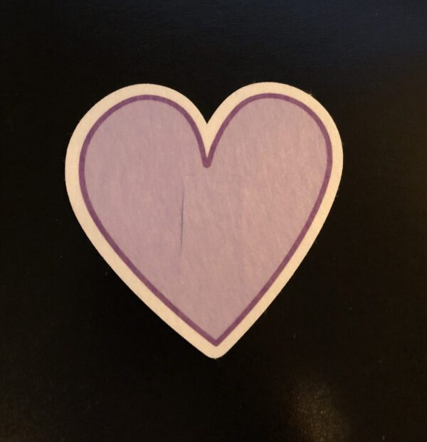 Heart Designed precut adhesive patch to secure all diabetic devices