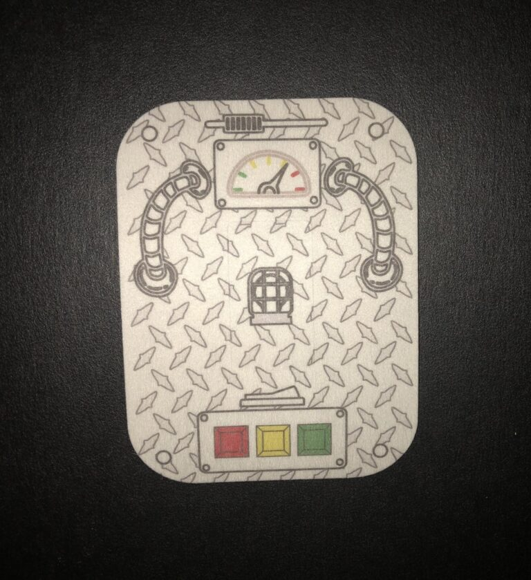 Steampunk Designed precut adhesive patch to secure all diabetic devices