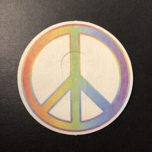 Peace Sign Designed precut adhesive patch to secure all diabetic devices